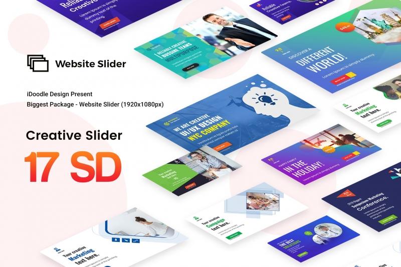 创意多用途网站滑块-17 PSD