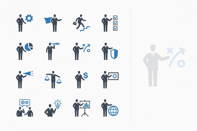 业务管理图标设置2-蓝色系列