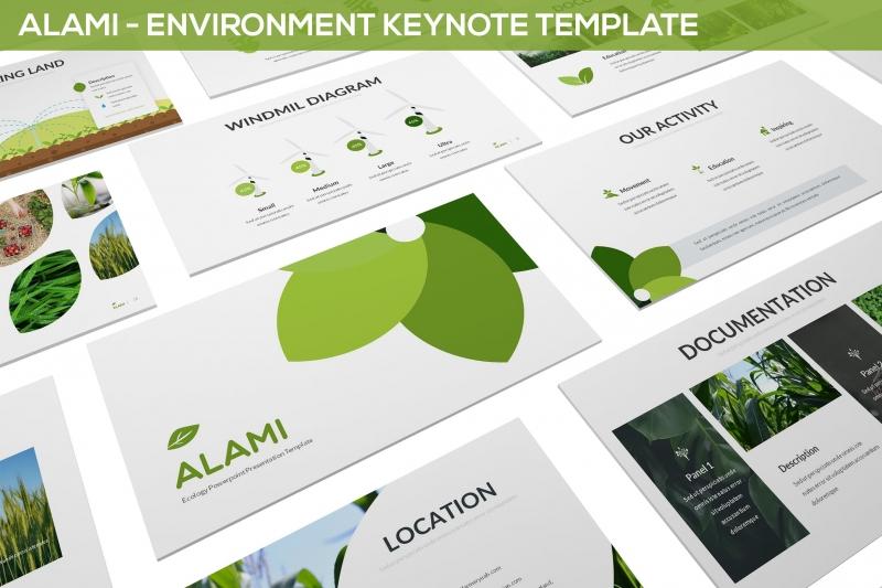 Alami-环境主题演示模板keynote