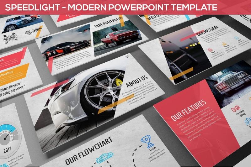 闪光灯-现代Powerpoint模板