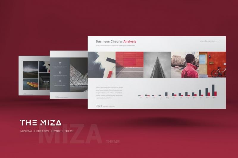 Miza Business主题演示模板keynote