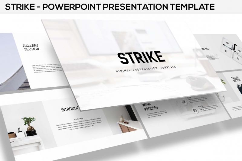 罢工-最小的Powerpoint模板