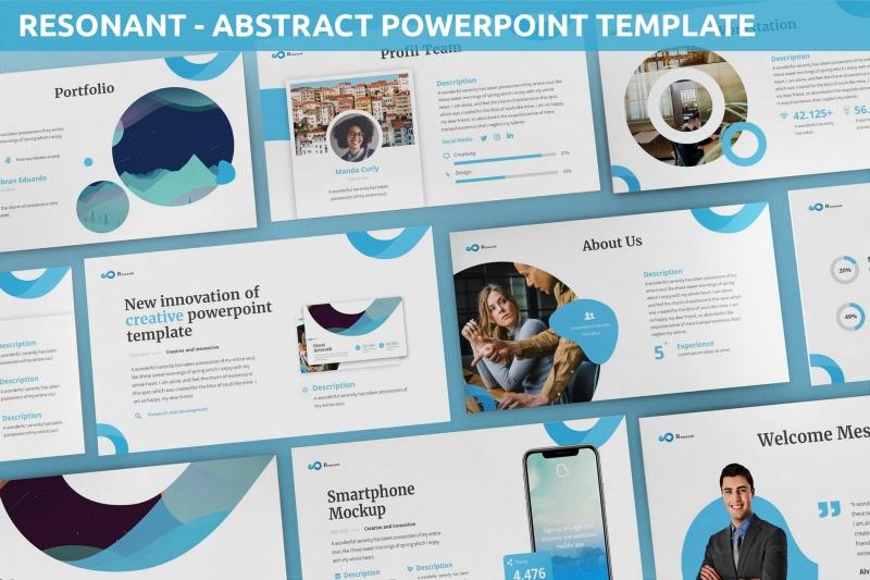 共振-抽象Powerpoint模板