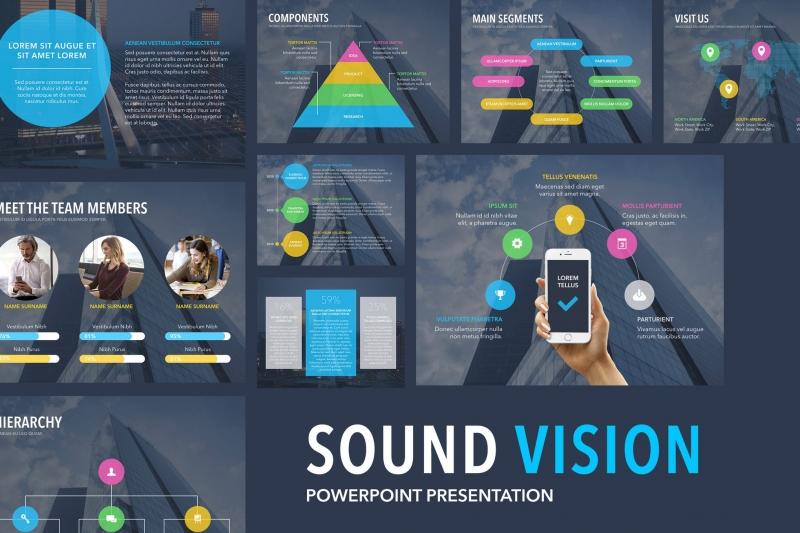 声音视觉PowerPoint模板下载