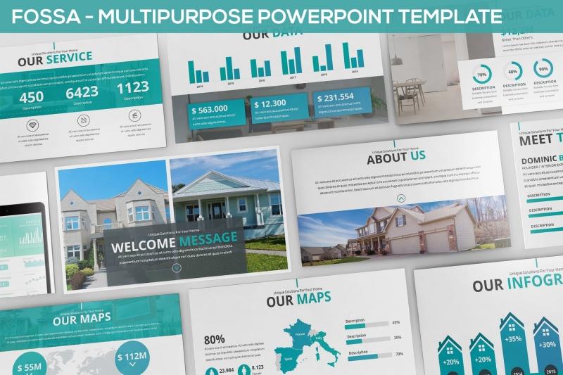 Fossa-多用途Powerpoint模板房地产下载