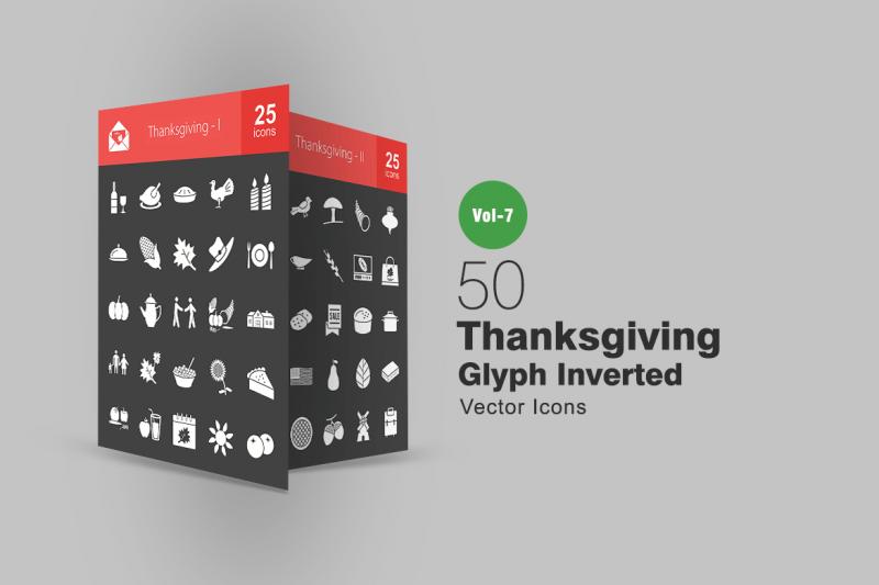 50感恩节雕文倒图标icon下载