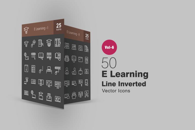 50 E学习线倒置图标icon下载