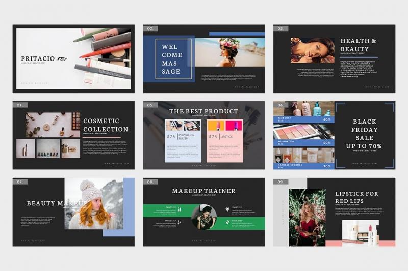 Pritacio:美丽的Powerpoint模板