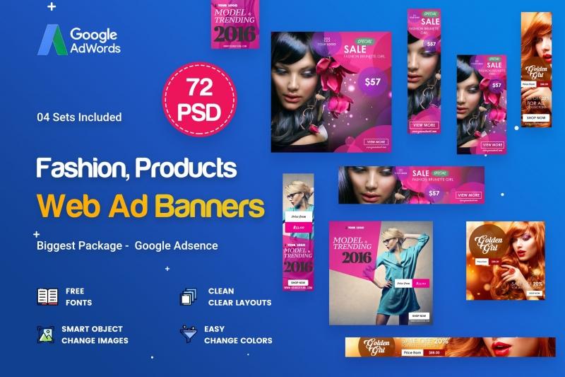 时尚横幅广告-72 PSD [04套]ui工具包