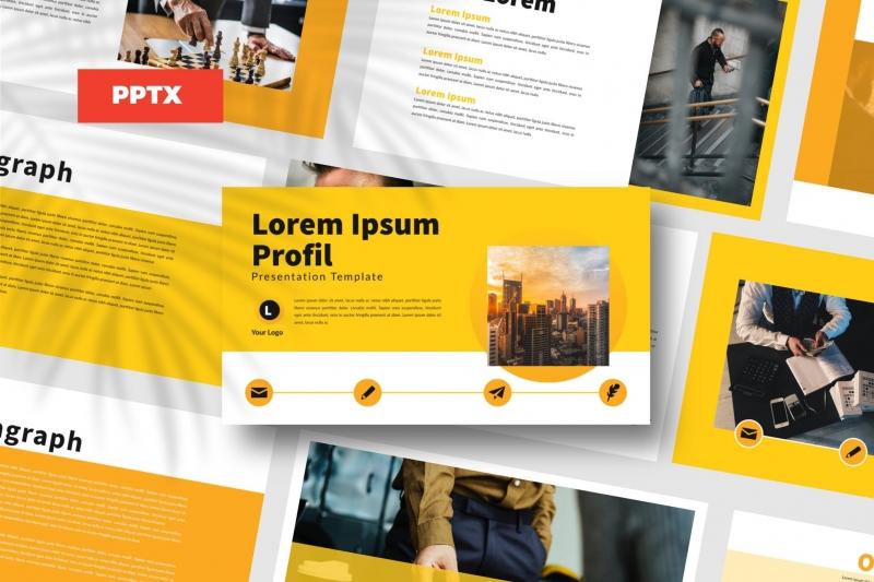 黄色商务-Powerpoint模板