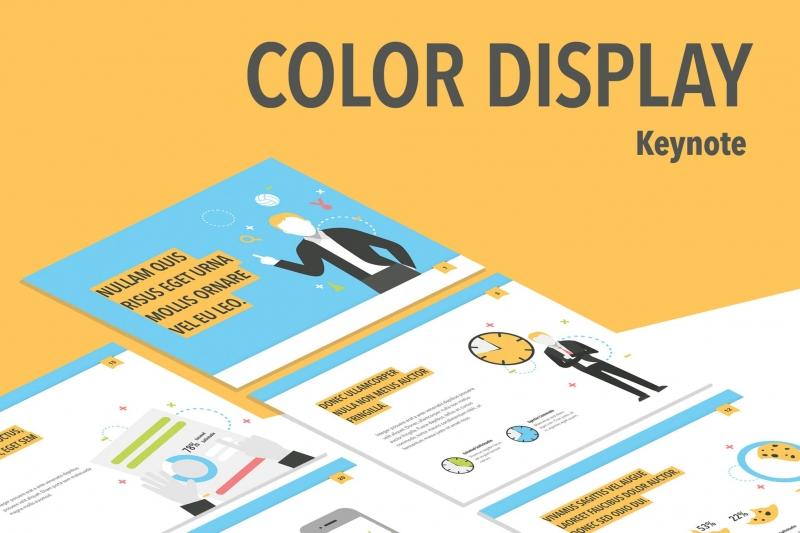 彩色显示主题演示模板keynote下载