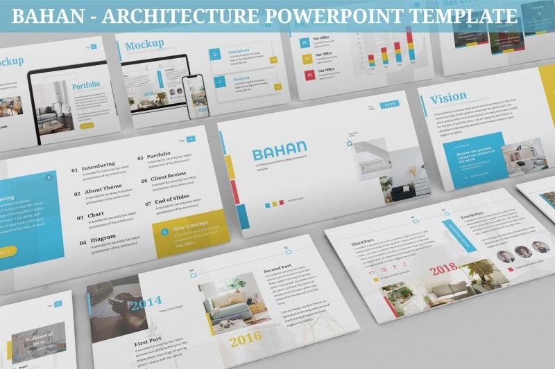 Bahan-建筑Powerpoint模板
