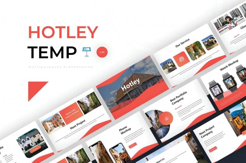 Hotley-主题演示模板keynote