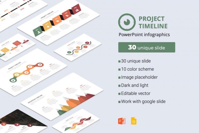 项目时间表powerpoint信息图表